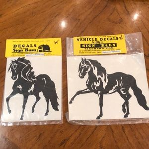 Large horse vehicle decals. NWT!